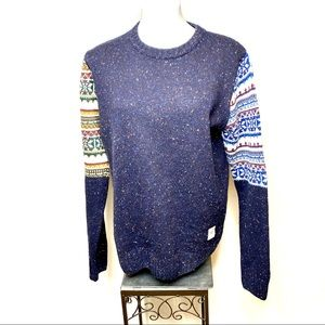 BellField crew neck wool blend sweater size L